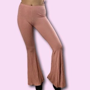 Pink Flare Bell Bottom Pants